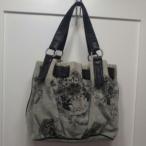 Gray black Juicy Couture purse handbag